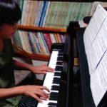 校内合唱コンクールの伴奏レッスン☆順調です(^o^)丿