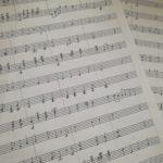 聴音で校歌の楽譜作成(^o^)丿