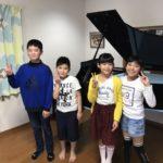 ピアノ教室でのご縁に感謝です☆お家でミニ弾き合い会しました\(^o^)/